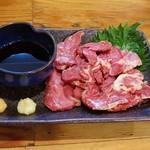 串カツ田中 - さいぼし(馬肉の燻製・580円外税)