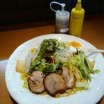 季風軒 - 冷麺と胡麻醤油ダレ、カラシ