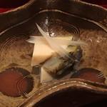 銀座 しのはら - 千倉のクロアワビ 独活の酒煮