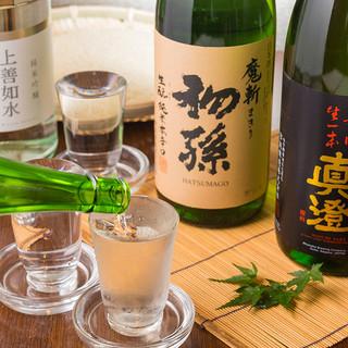 8種類の日本酒が入った飲み放題!約100種類の飲み放題!