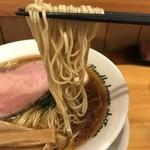 麺庵ちとせ - 【2018.6.11】中加水の極細ストレート麺。