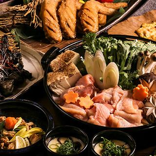 当店自慢『名古屋コーチンのすき焼き鍋』はご宴会で大好評!