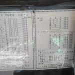87519779 - お品書き