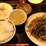 中国料理 聚宝 - 料理写真:青椒肉絲定食