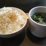 お好み焼肉道とん堀 - ライス・スープはセルフでお代わり自由です