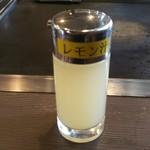 お好み焼肉道とん堀 - レモン汁も頂いて……