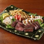 寅福 - 宴会プラン限定!肉3種の炙り焼き盛り合わせ