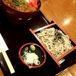 銀座ライオン 安具楽 - 週替わりランチ ソースカツ丼とそばセット 950円
