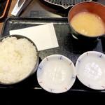 肉屋の正直な食堂 - 定食のセット