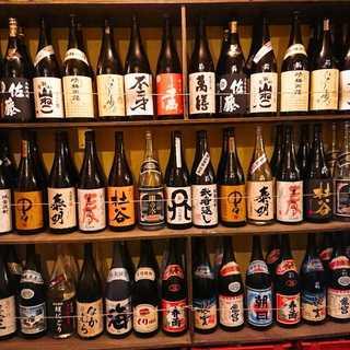 ドリンクメニューも品揃え豊富♪日本酒20種以上、焼酎28種!