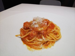 なかがわ 本店 - フレッシュトマトのスパゲティー二