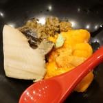 鮨 とかみ - 鮑と雲丹のミニ丼