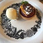 フォトベル カフェ - 安穏芋のスイートポテト(510円 税抜) バニラアイスが付いてます