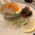 サルデーニャ料理とワイン greco - 一皿目 アオリイカが美味い。タコのトマト煮も美味い