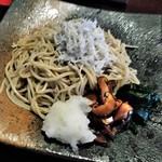 渡邊 - [料理] しらすそば プレート全景♪w