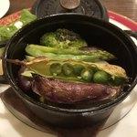 プロポスタ - ピーチポークの塩漬 香味野菜のココット@1,500