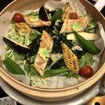 海賓亭 - 穴子と夏野菜の蒸篭