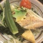 海賓亭 - 穴子と夏野菜の蒸篭 取り分け