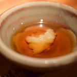 鳥酎 - 【白レバー串@200円+税】胡麻油に、すりおろしニンニク