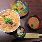 郷どり 燦鶏 - 親子丼サラダセット
