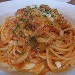 アルマドーレ - いろいろ木の子とポルチーニ茸のパンチェッタ入りトマトソース