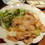 郷土料理くらわんか - よくばり定食の生姜焼き
