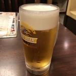 石蔵 - 2018年6月10日  生ビール 中(キリン一番搾り)600円
