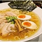 麺屋 愛心 - 料理写真:金色煮干中華そば(どろたま) 800円  厚みのある煮干し味!