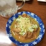 満貫酒蔵 - もつ煮  390円    タルハイ380円