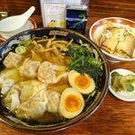 87555793 - 黒豚雲呑麺セット(煮豚飯)1,069円(税込み)
