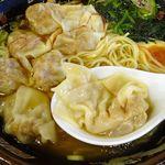 87555794 - 黒豚雲呑麺セット(煮豚飯)1,069円(税込み)