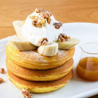 バナナクリーム&メープルバターパンケーキ