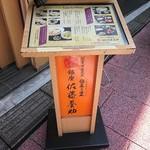銀座 佐藤養助 - メニュー看板