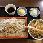 そば処 西むら - 料理写真:蕎麦とミニ天丼セット、770円です。