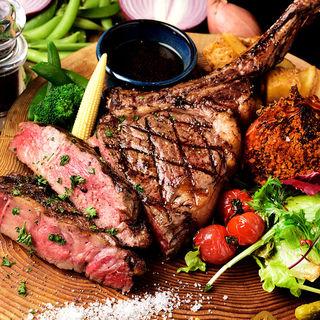 【肉×ワイン】ボリューム満点アンガス牛のステーキ