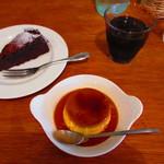 マントン - 『ガトーショコラ』『プリン』『アイスコーヒー』
