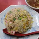 87573435 - 炒飯。胡椒辛い。蒲鉾とグリーンピース大量