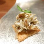 87574396 - 和歌山県産シラスのパイ ベルモットのジュレ
