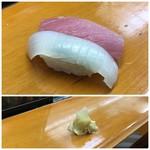 大松寿司 - 烏賊と鮪