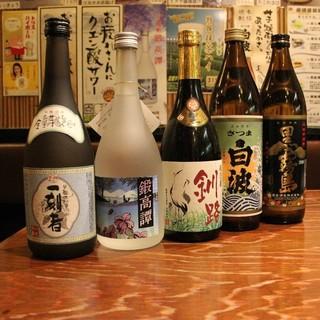 全国各地の地酒など種類豊富なお酒が楽しめる!