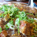 大衆食堂ヒザコシ - チキンカレー定食大盛りアップ