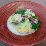 香港1997 - 旬の海鮮と春野菜煮浸し