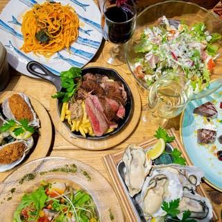 新鮮魚介を使った豊富なコース料理!平日宴会コースがお得に!