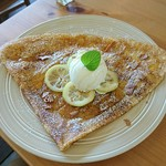 ガレット&カフェ クランプーズ - はちみつレモンクレープ