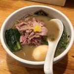 真鯛らーめん 麺魚 - 料理写真:濃厚真鯛ラーメン 鯛ほぐし 味玉