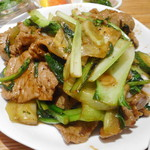 87589092 - 豚肉と野菜の黒胡椒炒め