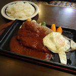 resutorankonishi - ハンバーグ (ライス・スープつき)