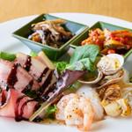 Scampi - 前菜の盛合わせ(5種)