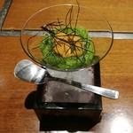 食彩比羅夫 - 料理写真:雲丹オクラ