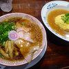 サバ6製麺所 - 料理写真:中華そば+半天津飯(900円)